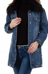 Dámsky jeansový kabát Q9351