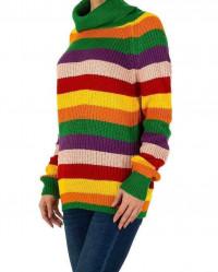 Dámsky módny pruhovaný pulóver Milas Q2888 #1