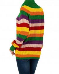 Dámsky módny pruhovaný pulóver Milas Q2888 #2
