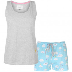Dámsky módny set tričko / šortky Rock And Rags J4553