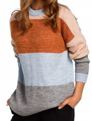 Dámsky pruhovaný pulóver N1471