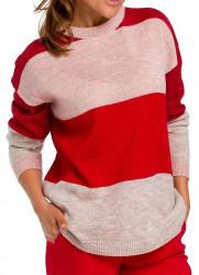 Dámsky pruhovaný pulóver N1472