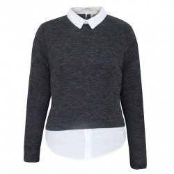 Dámsky pulóver s golierikom Lee Cooper H6583