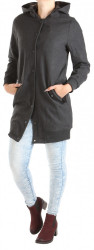 Dámsky šedý kabát Rock Angel W0762
