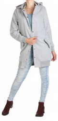 Dámsky šedý kabát Rock Angel W0763