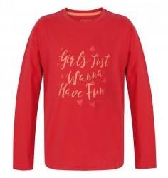 Dievčenské bavlnené tričko Loap G0129