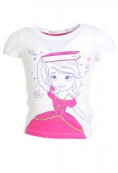 Dievčenské biele Disney tričko Reebok W0808