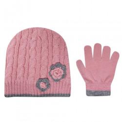 Dievčenské set čiapky a rukavíc Crafted J6364