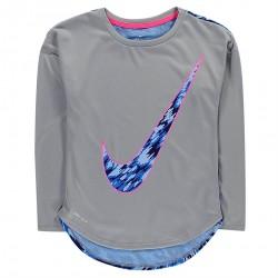 Dievčenské tričko s dlhým rukávom Nike H3674