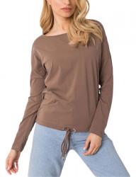 Hnedé dámske tričko s dlhými rukávmi Y2751