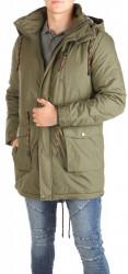 Pánska khaki zimná bunda Eight2Nine W0780