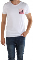 Pánske biele tričko Sublevel X9405