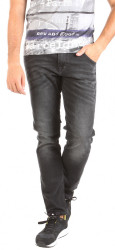 Pánske čierne jeansové nohavice Mustang W0985