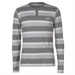 Pánske módne tričko s dlhým rukávom Lee Cooper H6534