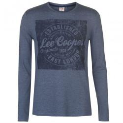 Pánske módne tričko s dlhým rukávom Lee Cooper H6536