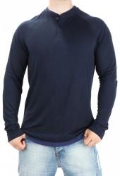 Pánske pohodlné tričko s dlhými rukávmi Bench X5052