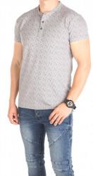 Pánske sivé tričko so vzorom Sky Rebel W0767