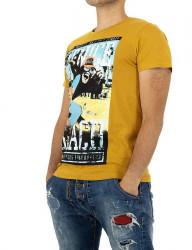 Pánske tričko s potlačou Glo Story I2037