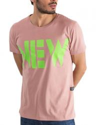 Ružové pánske tričko new Y0234
