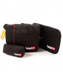 SET - Taška cez rameno Record Head + obal na notebook R5178