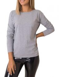 sivé dámske tričko s výstrihom na chrbte N2906
