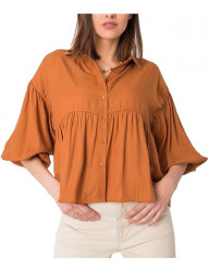 Svetlo hnedá dámska voľná košeľa N9578