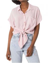 Svetlo ružová dámska oversize košeľa Y3129