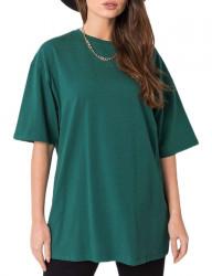 Tmavozelené dámske basic tričko N7783