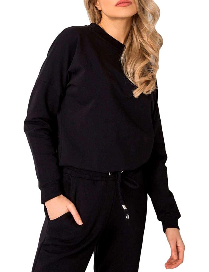 čierna dámska mikina s holým chrbtom N4967