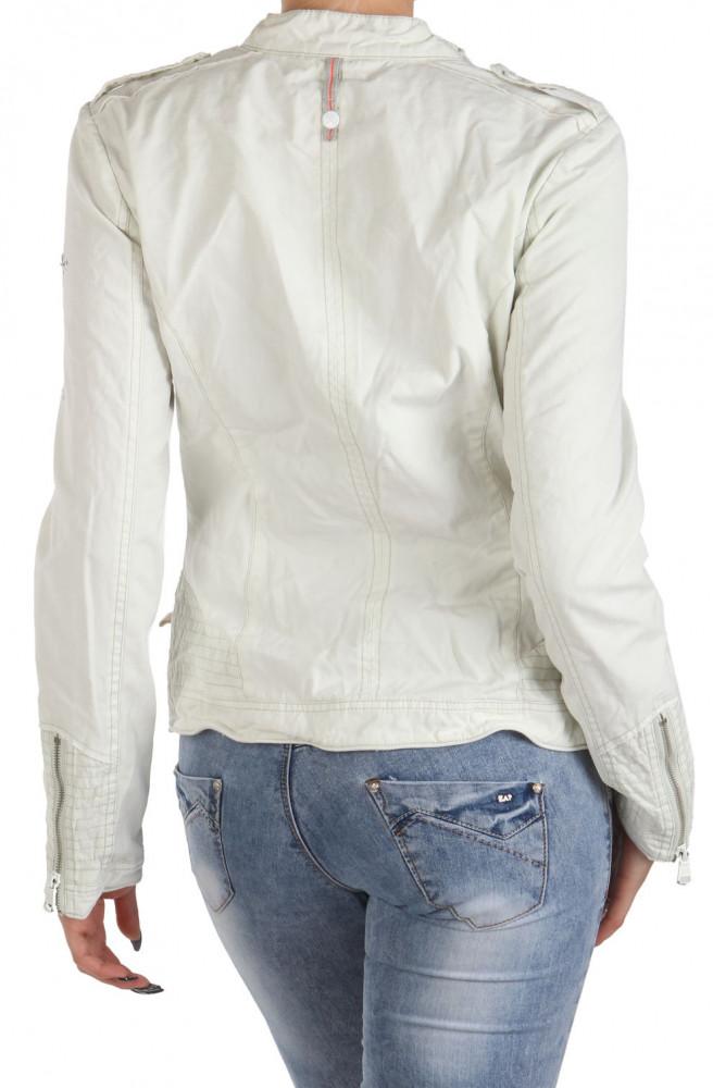 47c130b2c1ad Dámska biela bunda Tom Tailor Y0097 - Dámske jarné bundy - Locca.sk