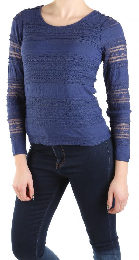 4a939bd8173f dámska elegantné tričko s dlhým rukávom Lola a Liza X8466 - Dámske ...