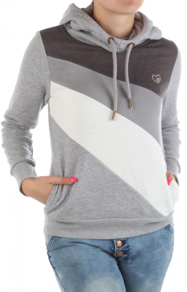 Dámska fashion mikina s kapucňou Eight2Nine W2239