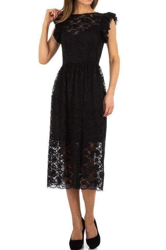 Dámske čierne šaty Voyelles Q5079