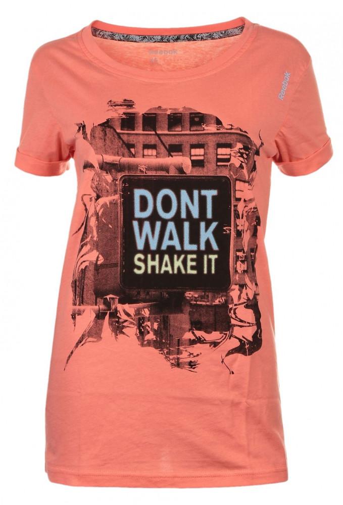 57ec01d4f852 Dámske farebné tričko s krátkym rukávom Reebok D0491 - Dámske tričká ...