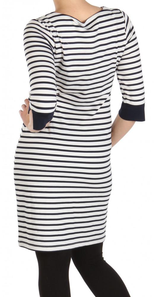 Dámske pruhované šaty s 3 4 rukávom Y0139 - Dámske ležérne šaty ... 1ca12ac8b8
