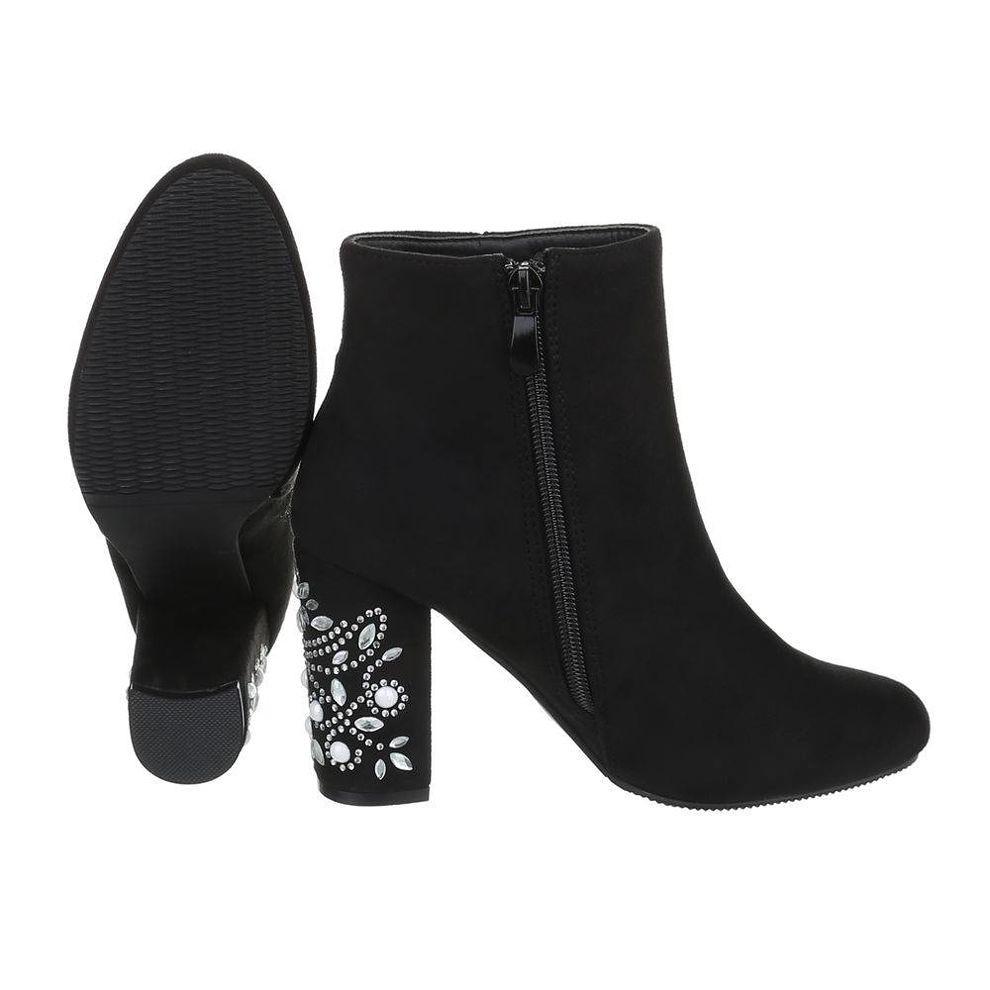 94ecdd8e0ebe Dámske štýlové topánky na podpätku Q0170 - Dámske členkové ...