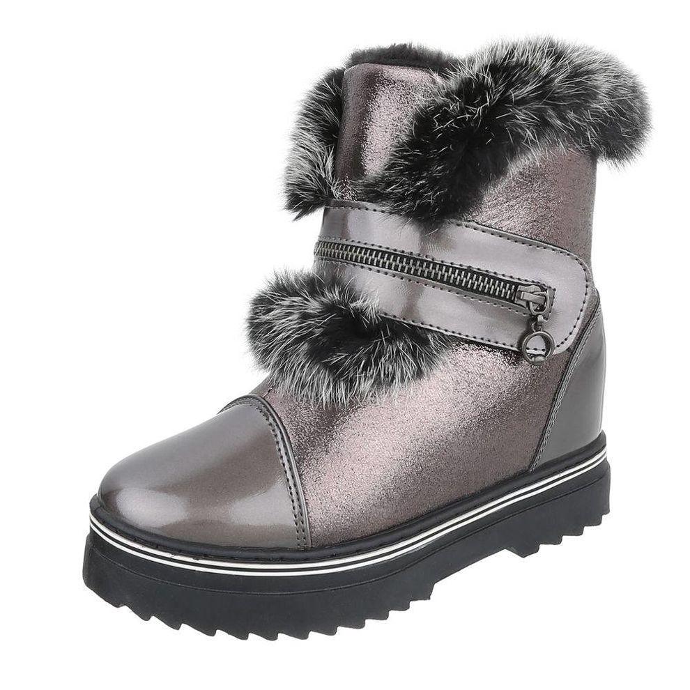 Dámske štýlové zimné topánky s kožušinou Q0215 - Čižmy trendové ... 4393b114600