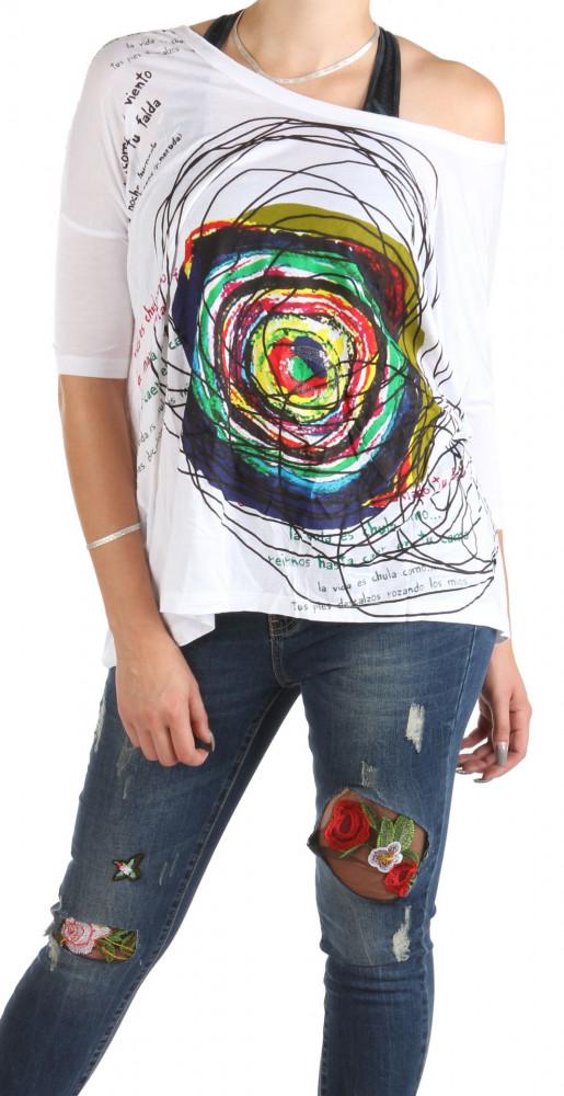 c7c946565f19 Dámske voĺné tričko s potlačou Desigual W0733 - Dámske tričká - Locca.sk