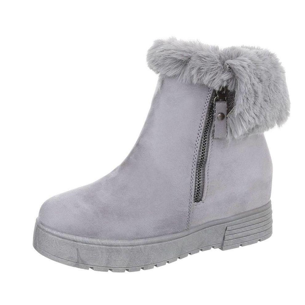 81c9ca23e6b44 Dámske vysoké zimné topánky s kožušinou Q0150 - Čižmy trendové ...