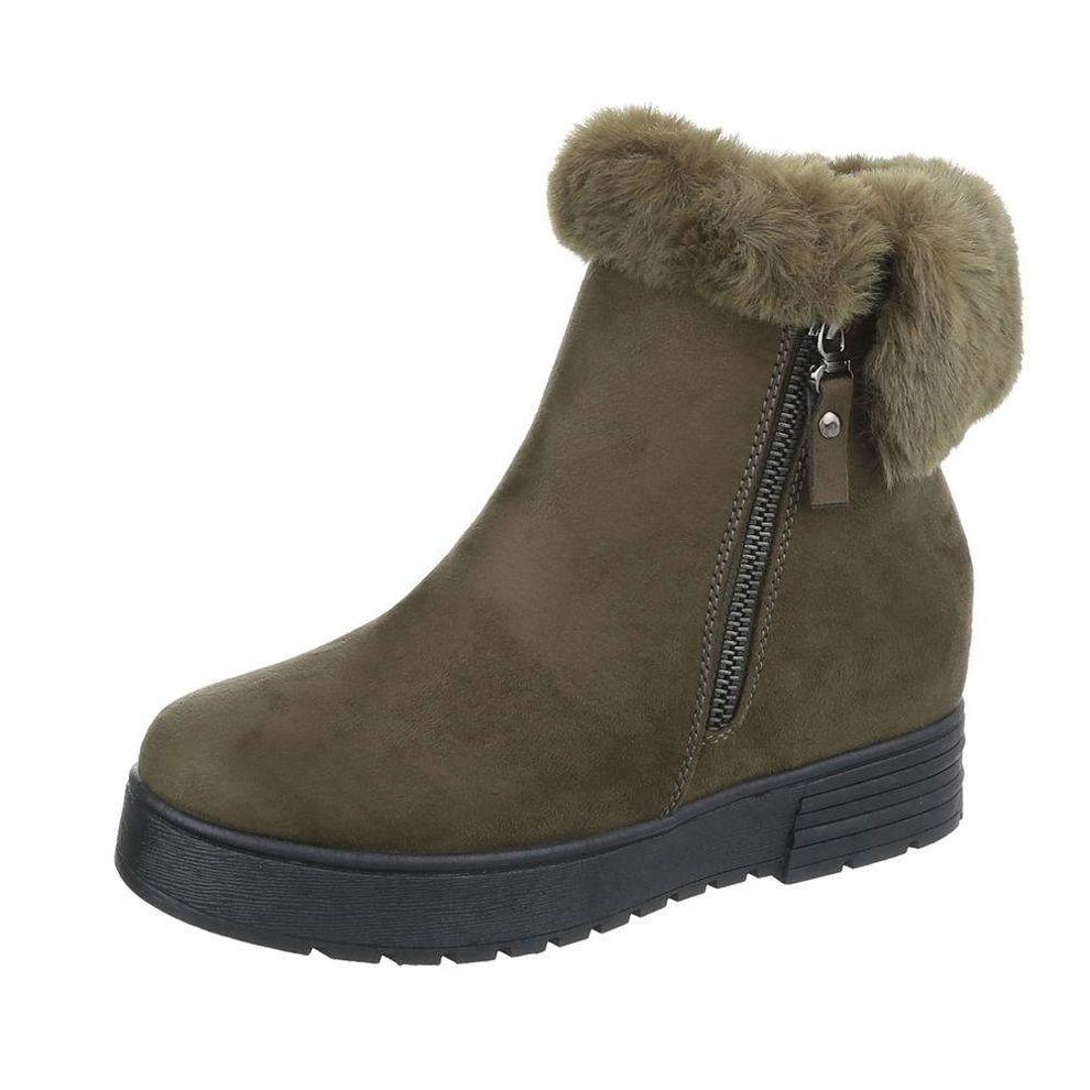 2f62102d03e5d Dámske vysoké zimné topánky s kožušinou Q0151 - Čižmy trendové ...