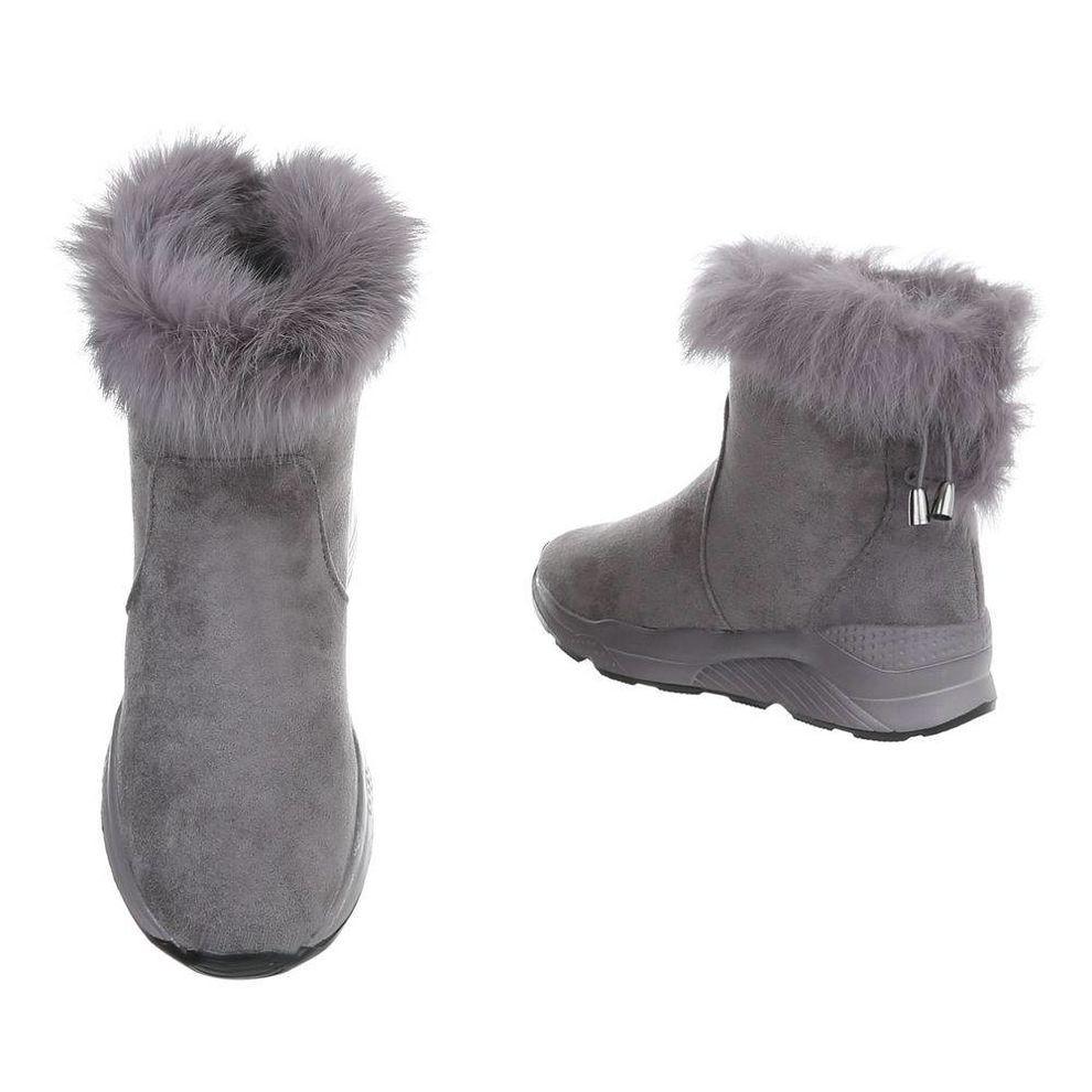 Dámske vysoké zimné topánky s kožušinou Q0163 - Dámske snehule ... 78ca8cd72da