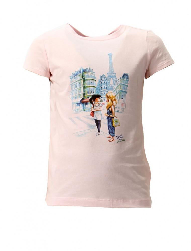 c111322fb Dievčenské tričko s krátkym rukávom Lacoste X7142 - Detské tričká ...