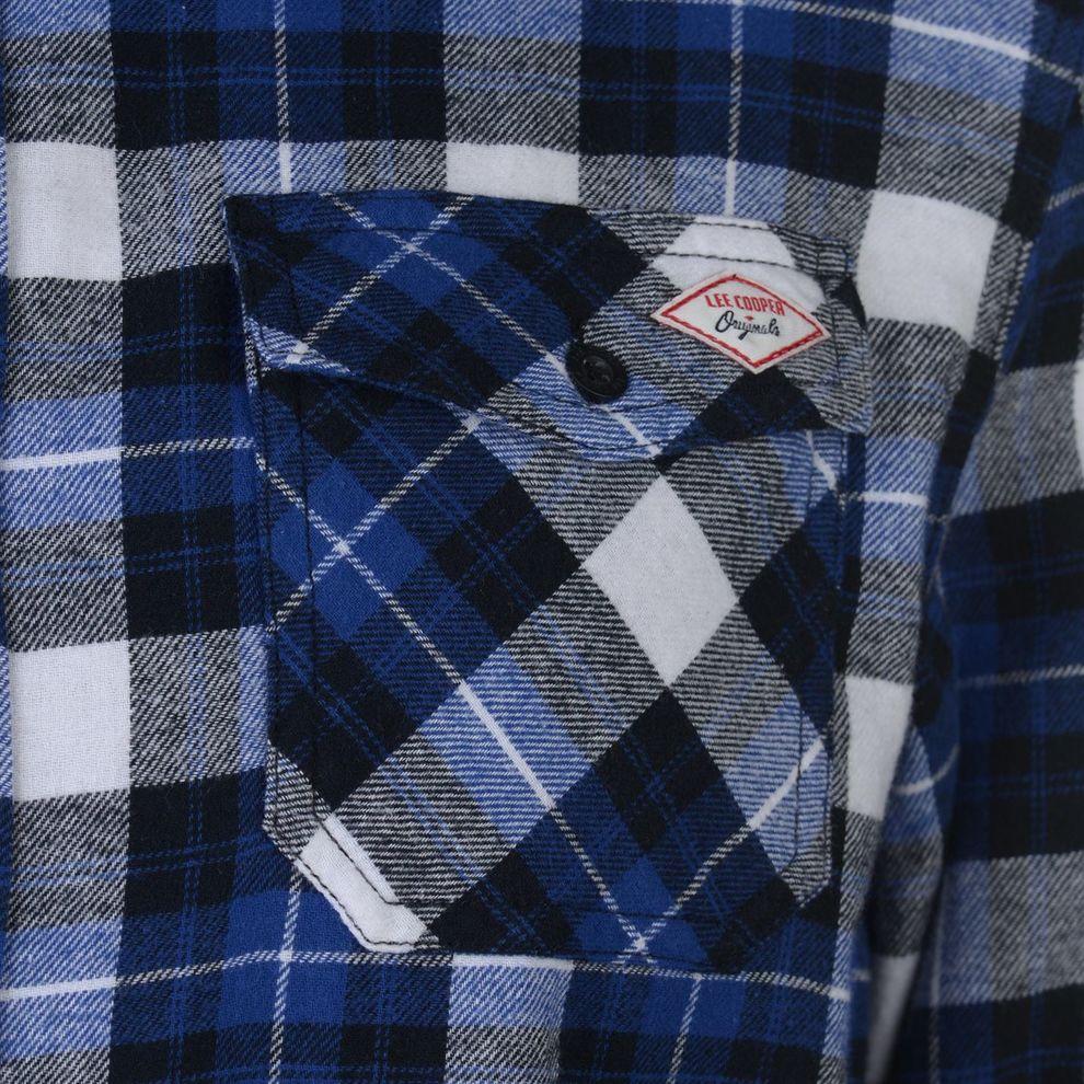 67369099b Pánska flanelová košeĺa Lee Cooper H8015 - Pánske kárované košele ...