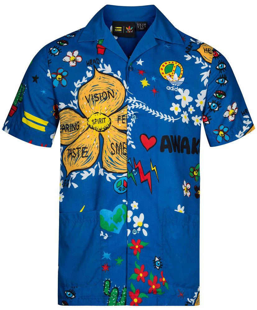 Pánska retro košeĺa Adidas Originals A0465 - Pánske košele s krátkym ... 331fc78e2ae