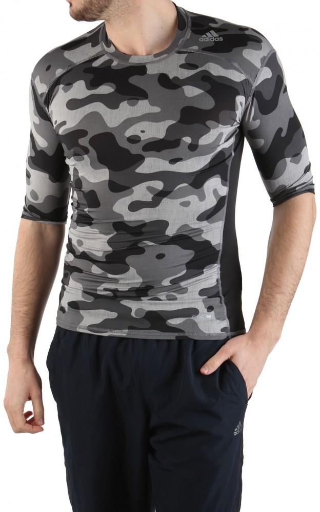 Pánske kompresné tričko Adidas Performance X8141 - Pánske army ... 0d2f641123d