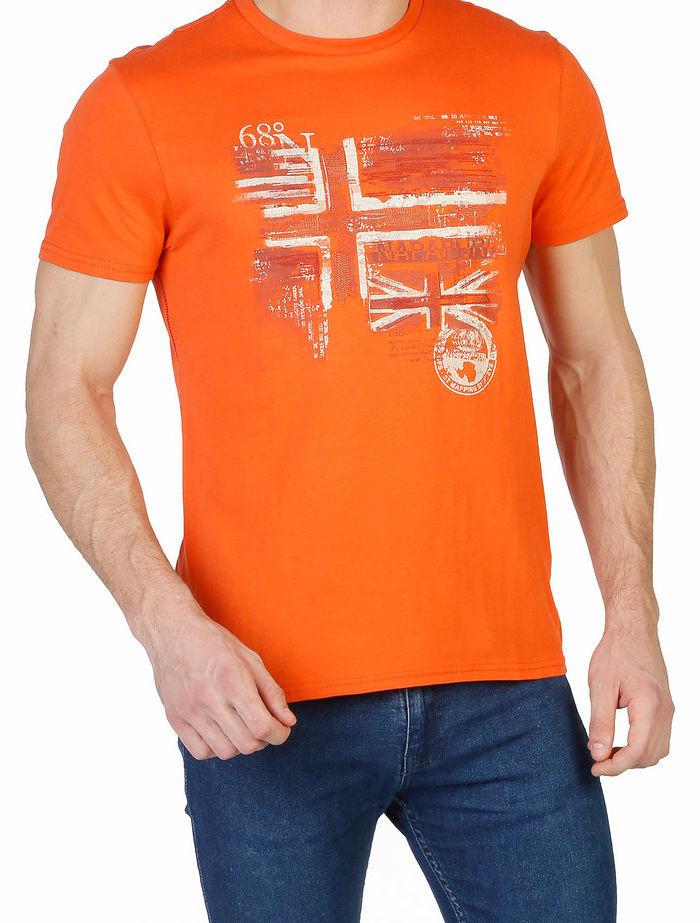 42e60fb21179 Pánske módne tričko Napapijri L2545 - Pánske tričká s krátkym ...