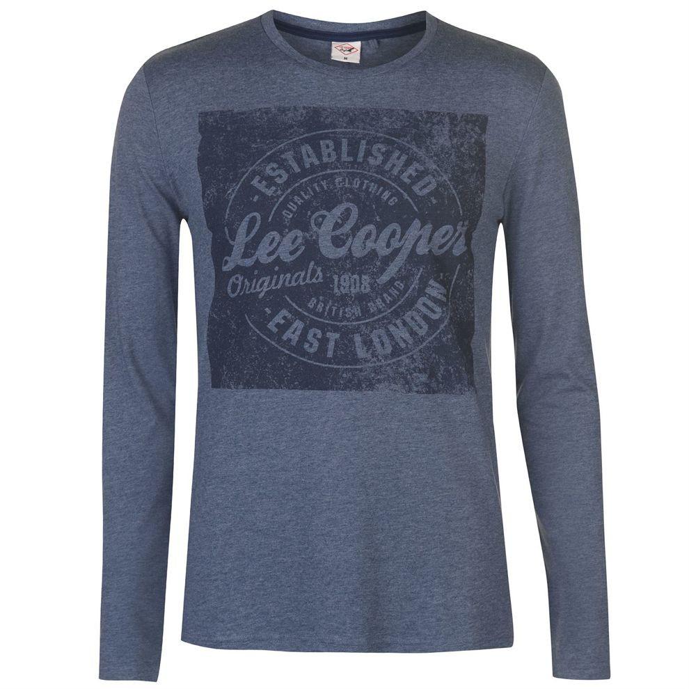 ef2f2baba849 Pánske módne tričko s dlhým rukávom Lee Cooper H6536 - Pánske tričká ...