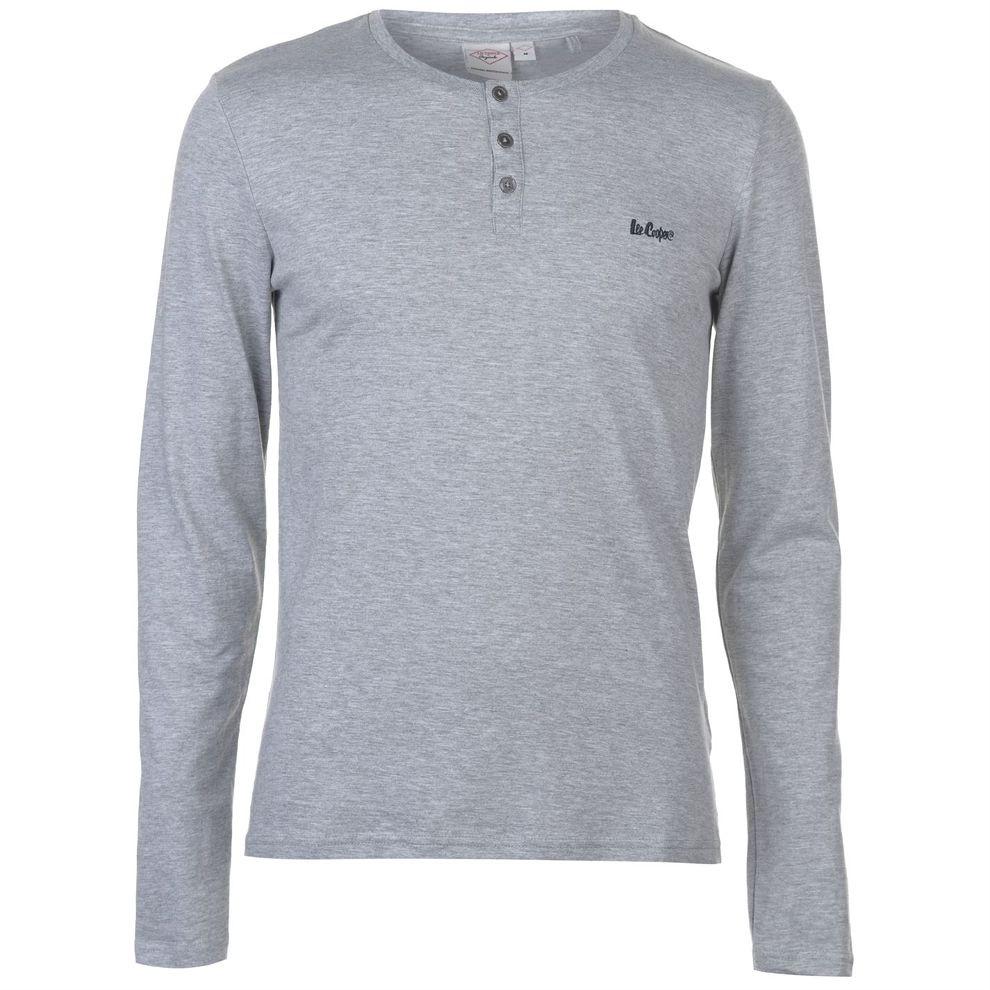 0081436c5f8f Pánske módne tričko s dlhým rukávom Lee Cooper H6542 - Pánske tričká ...
