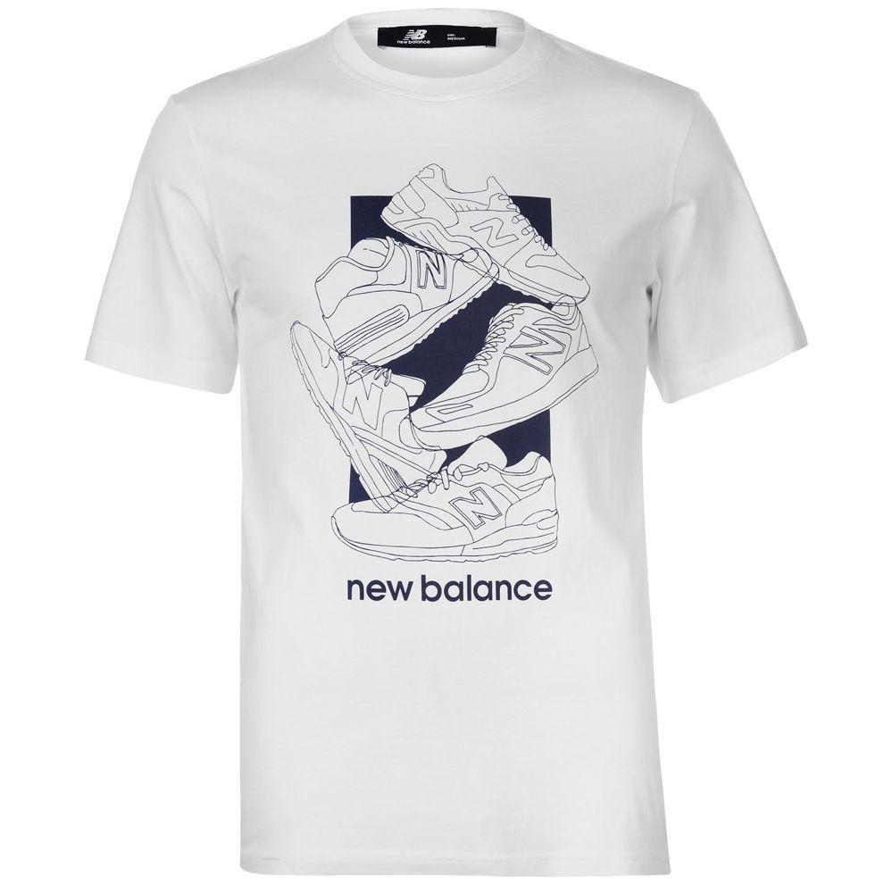 Pánske štýlové tričko New Balance H4843 - Pánske tričká s krátkym ... 7234a017d5
