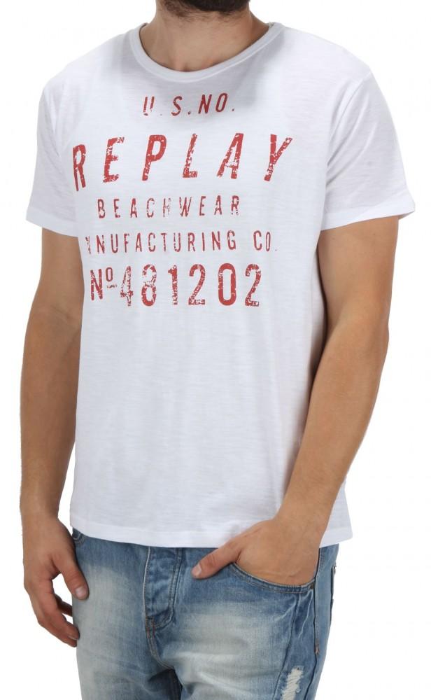 cebb10e24f39 Pánske tričko s potlačou Replay X5316 - Pánske tričká - Locca.sk